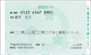 通知カード (表)